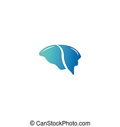 Abstract brain logo icon template vector