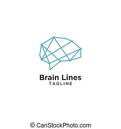 Abstract brain logo template