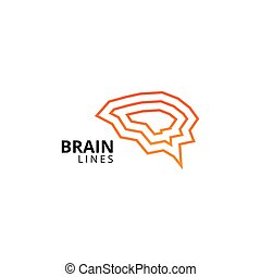 Abstract brain outline template