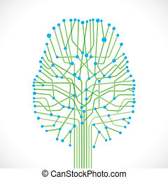 abstract brain structure stock vector