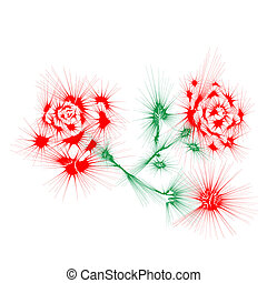 Abstract branches of roses