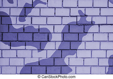 Abstract brick wall texture painted in khaki