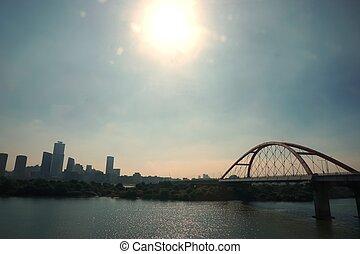 abstract bridge at Han River