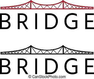 abstract bridge construction vector design template