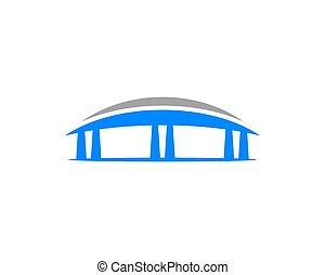 Abstract Bridge Logo Template