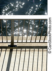 Abstract bridge railing