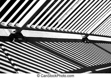 Abstract bridge railing