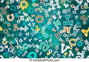 abstract, brieven, achtergrond