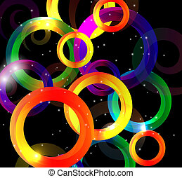 Abstract Bright Background Illustration.