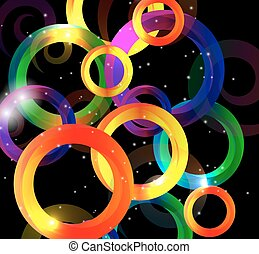 Abstract Bright Background Vector Illustration.