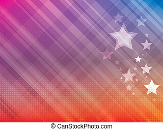 Abstract bright background with sta