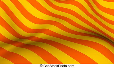 Abstract bright background with waving of colorful stripes, 3d rendering