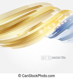 Abstract bright blue and gold background Vector