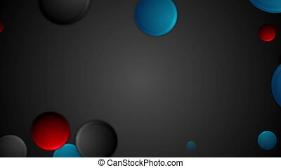 Abstract bright blue and red circles video animation