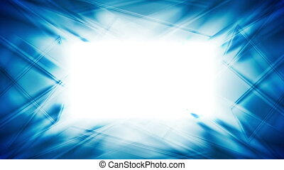 Abstract bright blue glowing video animation