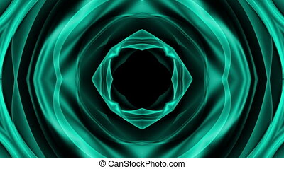 Abstract bright blue science fiction subtle movement looping...