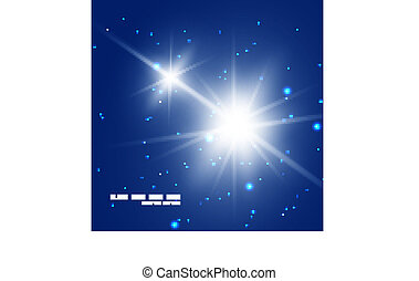 abstract bright blue shiny star background vector