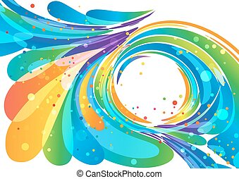 Abstract bright circle frame background