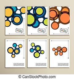 Abstract bright circles on a white background