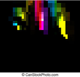 abstract bright colorful