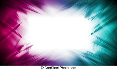 Abstract bright cyan and purple glowing video animation -...