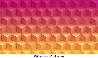 Abstract bright geometric 3d cubes technology motion background
