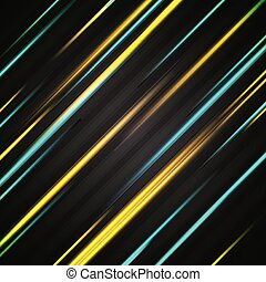 Abstract bright glowing stripes background