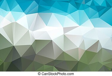 Abstract bright green blue polygonal background