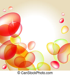 Abstract bright orange background