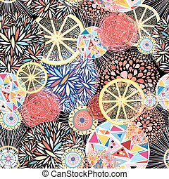 Abstract bright pattern