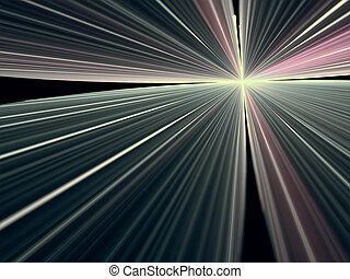 Abstract bright rays background - digitally generated image