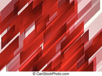 Abstract bright shiny red tech background