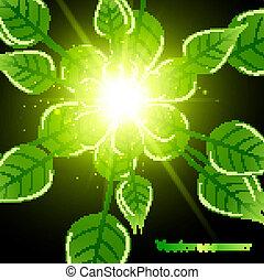 abstract bright shiny Vector natural eco green lives design