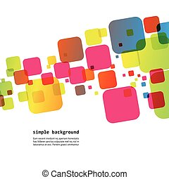 abstract bright squares on a white background