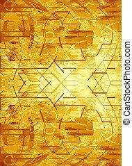 bright sun in a golden background