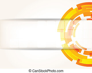 Abstract bright tech background in orange color