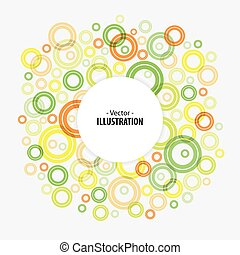 Abstract bright technology circles vector background