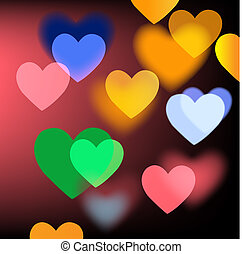 Bright Vector Background With Hearts