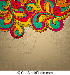 Abstract bright vector frame