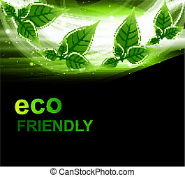 abstract bright Vector natural eco green lives wave