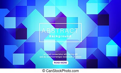Abstract bright vivid blue square background