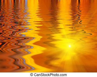 Abstract bright water ripples background with reflection of sunlight