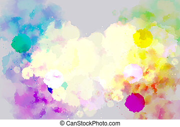 Abstract bright watercolor background.