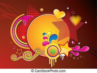 Abstract brightly colored funky background