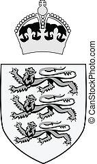 abstract British royal symbol - vector illustration