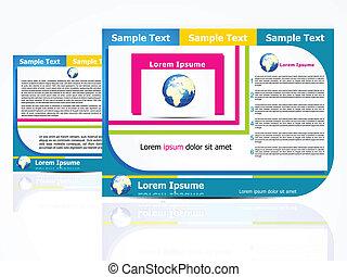abstract brochure design concept