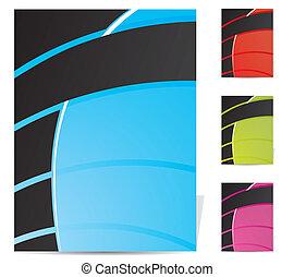 Abstract brochure design set