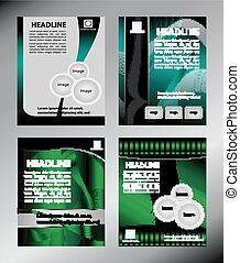 Abstract brochure design templates