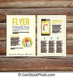Abstract Brochure Flyer design, checklist