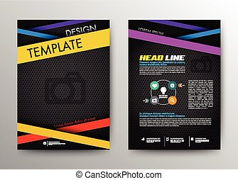 Abstract Brochure Flyer design vector template in A4 size....